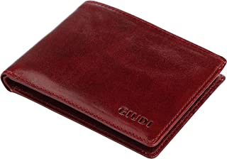 Giudi Luxury Genuine Leather Bifold Men's Wallet 8 Card Holder Made in Italy Expensive Slim and Comfortable