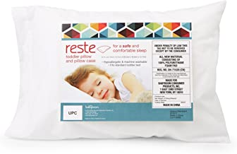 Reste Toddler Pillow with Case - Great Toddler Size Pillow for Full Night Sleeps or Naps in Bed or On The Couch - White Cover - Unisex Design for Boys or Girls – Hypoallergenic