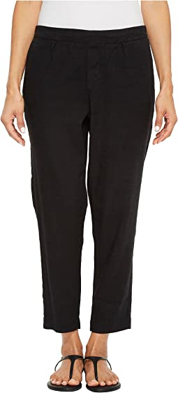 Petite Hidden Drawstring Linen Pant