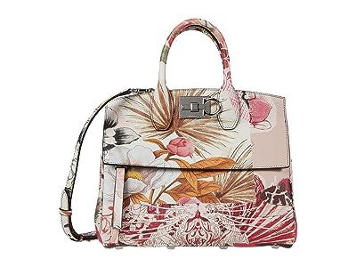 Salvatore Ferragamo The Studio Medium Top-Handle (Bone/New Bianco) Handbags
