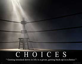 Boxing Motivational Inspirational Poster Art Print 11x14 Choices Gym Athletic Shorts Gloves Shoes
