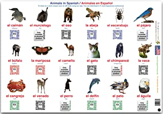 Linguacious Teachers' Favorite Spanish Animals and Objects Poster - Set of 3 Posters, 108 Words with Audio!