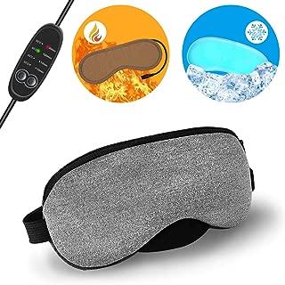 Xpassion ホットアイマスク USB 電熱式ヒーター 疲れ緩和 目もと 温め 睡眠改善 洗える 繰り返し使用 タイマー設定 温度調節 アイス袋付き 温冷両用 日本語説明書付き 耳栓付き ギフト包装