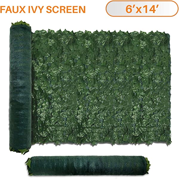 TANG Sunshades Depot 6 FT X 14 FT Artificial Faux Ivy Privacy Fence Screen Leaf Vine Decoration Panel With 130 GSM Mesh Back