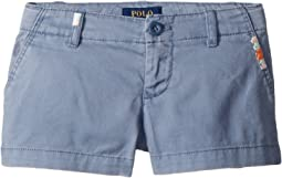 Polo Ralph Lauren Kids Embroidered Chino Shorts (Toddler)