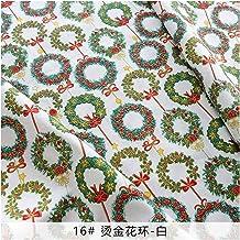 Kleding stof 25 * 25 cm/stuks kerst patchwork stof print quilten stoffen voor DIY handwerk handgemaakte katoenen weefsel N...