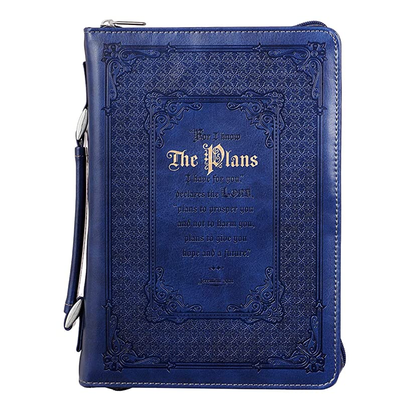 Bible Cover, The Plans I Have For You, Blue, Large