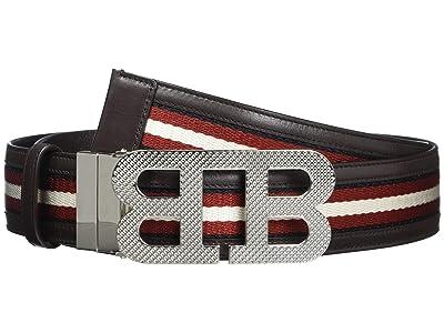 Bally Mirror B 40 M.TSP/71 Belt (Black/Bone/Red/Black) Men