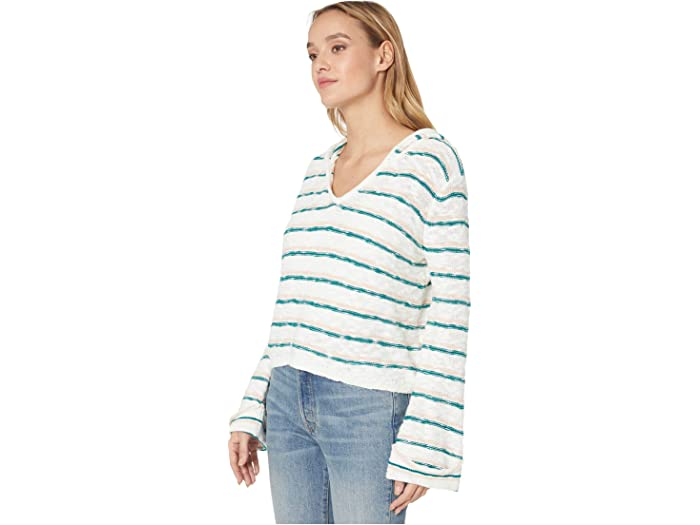 Roxy Sun Express Hooded Sweer Everglade Bali Stripes Horizon Sweers