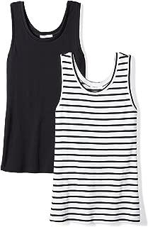 Amazon Brand - Daily Ritual Women's Midweight 100% Supima Cotton Rib Knit Tank Top, 2-Pack