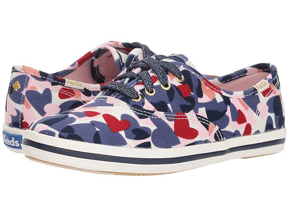 Keds x kate spade new york Kids Champion Heart (Little Kid/Big Kid) (Heart Print) Girl