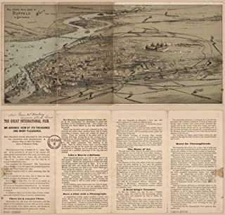 1888 map: International Industrial Fair, Buffalo, NY All roads will lead to Buff