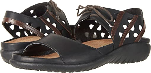 Oily Coal Nubuck/Pecan Brown Leather