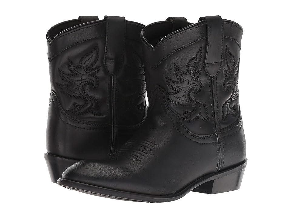 Dingo Willie (Black Leather) Cowboy Boots