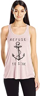 Clementine Women's Refuse to Sink Printed Flowy Racerback Tank