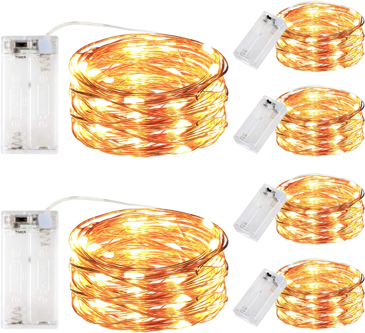 innotree 6 Pack All items free shipping LED Fairy String Battery Lights Denver Mall Ti with Operated