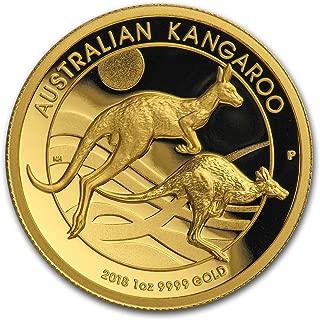 2018 AU Australia 1 oz Gold Kangaroo Proof (High Relief, Box & COA) 1 OZ Brilliant Uncirculated