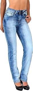 ESRA Jean Femme Pantalon en Jean Femme Jeans Taille Haute Grandes Tailles Straight fit G700