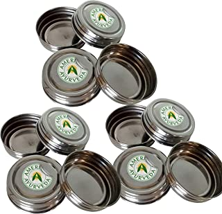 12 Pack Stainless Steel Replacement Caps/lids for IKEA RAJTAN Glass Spice Jar 5 Oz 400.647.02 by American Ayurveda (12)
