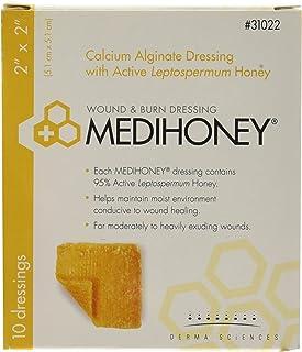 Derma Sciences 31022 Medihoney Calcium Alginate Dressing, 2