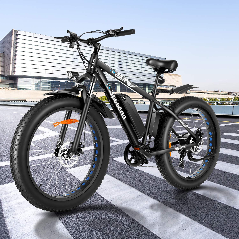 Speedrid Electric Bike Fat Tire Electric Bicycle 26