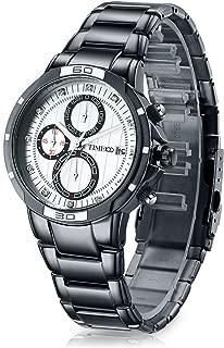 Time100 Men Fashion Casual Pattern Plating Alloy Case Daimond Digital-Quartz Movement Watch