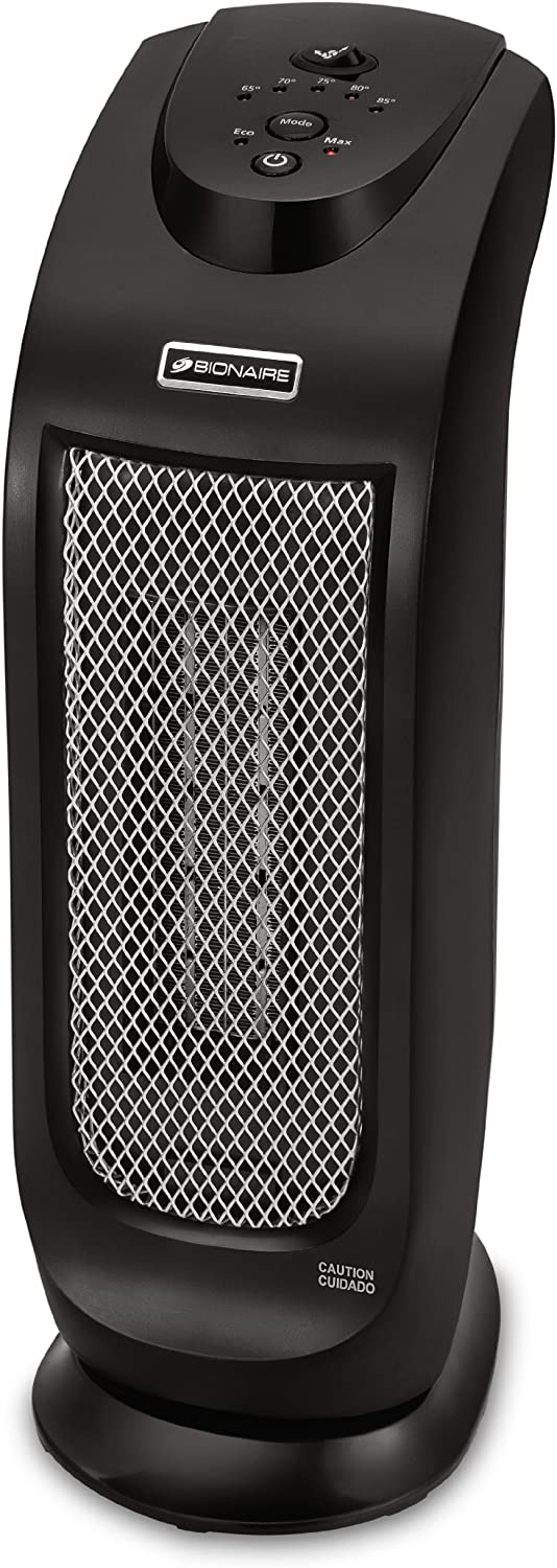 Bionaire Oscillating Ceramic Tower Heater with LED Controls, BCH7302-UM