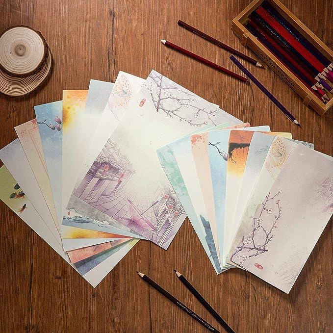 16 opinioni per Carta da Lettere e Buste, Comius Sharp Set di Carta da Lettere, 32 Fogli di