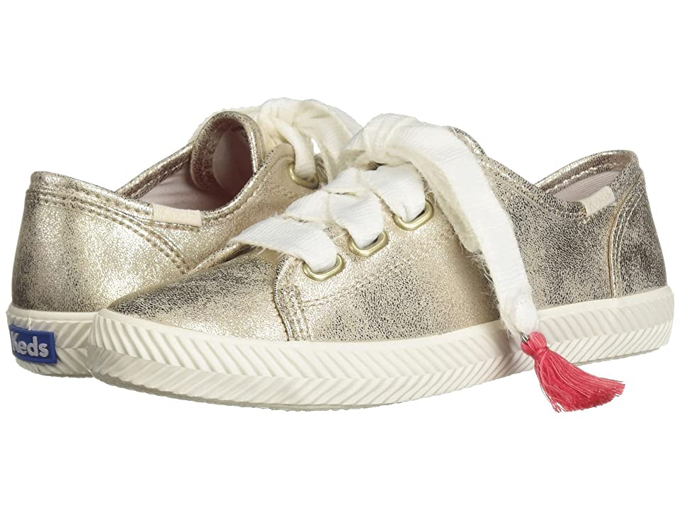 Keds Kids Kickstart Herringbone (Little Kid/Big Kid) (Gold Synthetic) Girls Shoes