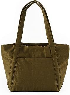 BAGGU Mini Cloud Bag, Lightweight Nylon Packable Tote for Travel or Everyday Use, Kelp