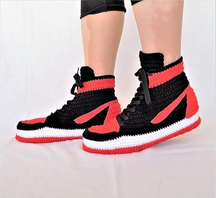 546eaadbcaa Crochet Air Jordan 1 Retro Home Shoe