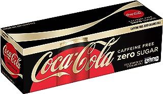 Coca-Cola Zero Caffeine-Free Soda Soft Drink, 12 fl oz, 12 Pack