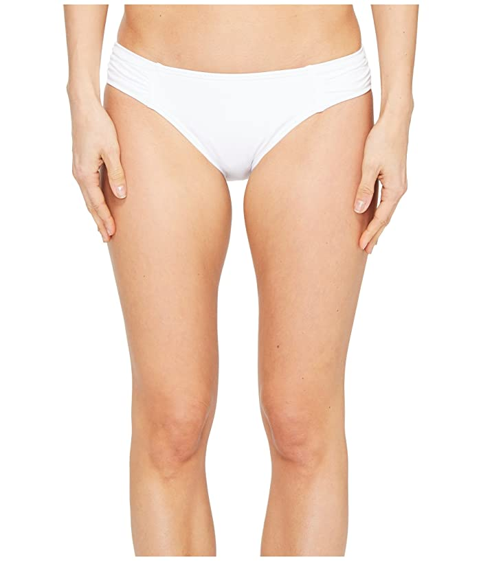 Tommy Bahama  Pearl Side-Shirred Hipster Bikini Bottom (White) Womens Swimwear