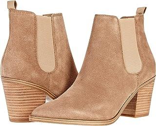 Nine West حذاء Wyllis حتى الكاحل للنساء، جلد سويدي طبيعي فاتح، 5