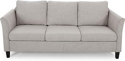 Betty Traditional Fabric Sofa, Beige