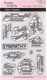 Stamp Simply Clear Stamps Sympathy Sentiments Set One Christian Religious Condolences and Loss 4x6 Inch Sheets - 10 Pieces