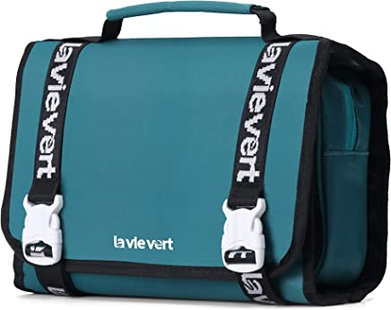 Lavievert Hanging Toiletry Bag Cosmetic Bag Makeup Organizer Travel Kit Compact Bathroom Storage with Hook and Handle for Men and Women