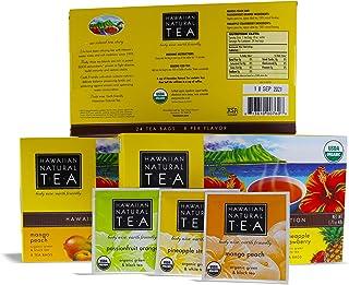 Sponsored Ad - Organic Hawaiian Natural Tea Box Gift Set, Hawaii Islands Collection Black White Green, Variety 48 pillow t...