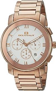 Oceanaut Men's Riviera Analog-Quartz Watch with Stainless-Steel Strap, Rose Gold, 22 (Model: OC0334)