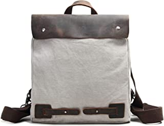 Zg Canvas Leather Casual Fashion Backpack Shoulder Bag Small Backpack for Women and Girls