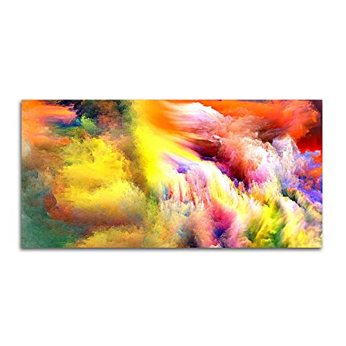 Tamatina Up In the Clouds Canvas Wall Painting, 152 x 76cm (Fabric, Multicolour)