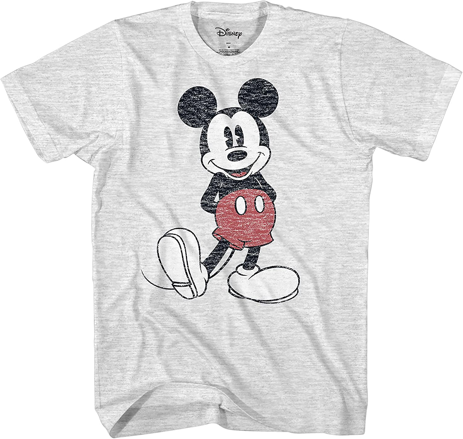 Disney Homme Mickey Mouse Distressed visage Lavé T-Shirt