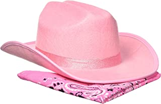Aeromax Junior Cowboy Hat with Bandanna, Pink Sparkle