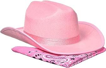 Aeromax Junior Cowboy Hat with Bandanna, Pink Sparkle
