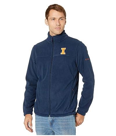 Columbia College Illinois Fighting Illini CLG Flankertm III Fleece Jacket (Collegiate Navy) Men