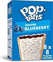 Pop-Tarts, Breakfast Toaster Pastries, Frosted Blueberry, Proudly Baked in the USA, 13.5oz Box (Pack of 8)