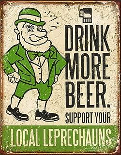 Desperate Enterprises Drink More Beer Tin Sign, 12.5