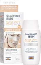 FotoUltra 100 ISDIN Active Unify Color SPF 50+ - Protector solar facial, Aclara y unifica el tono de piel, 50 ml
