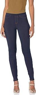 Women's Denim Leggings With Pockets