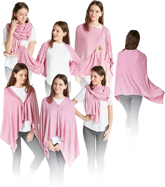Ink+Ivy Cashmere Feel Wrap Scarf Shawl Women, Soft Shrug Vest Shawls One Size 5 in 1